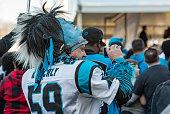 Carolina Panthers fan with mask