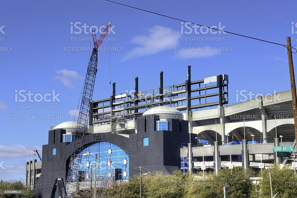 Carolina Panthers Scoreboard 3 stock photo