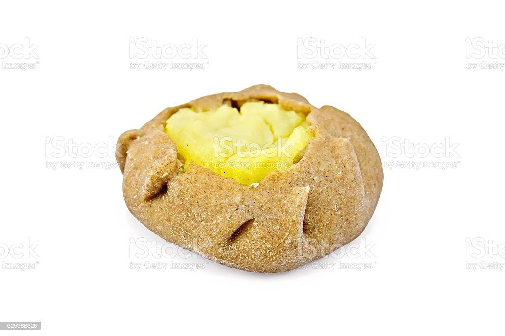 Carols with mashed potatoes stock photo