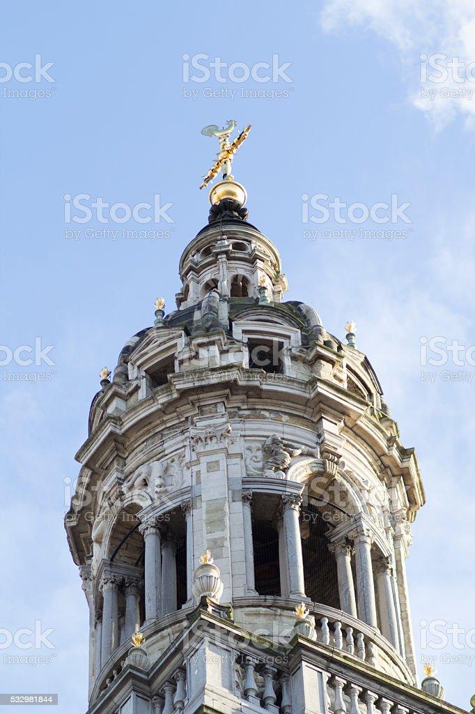 Carolus Borromeus bell tower stock photo