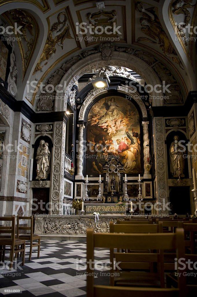 Carolus Borromeus Church, Antwerp stock photo