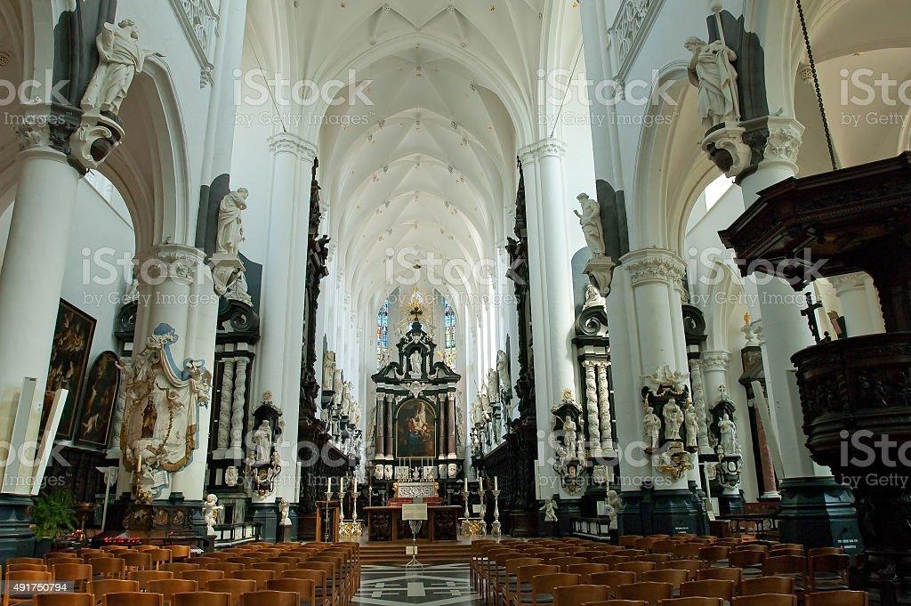 Carolus Borromeus Church in Antwerp, Belgium stock photo