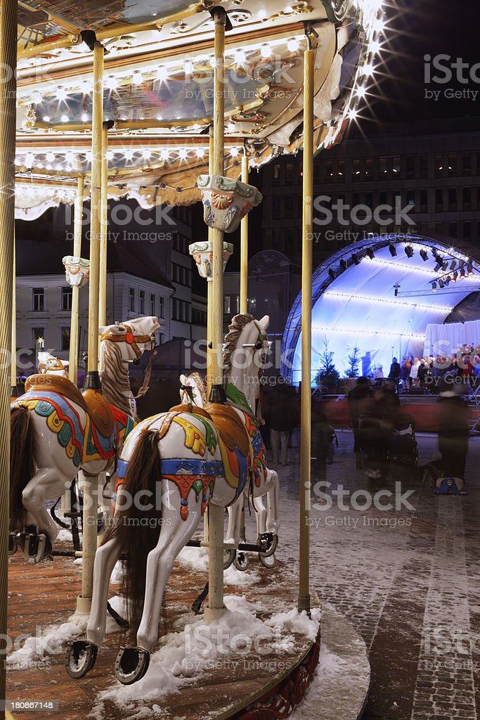 Carousel at night royalty-free stock photo