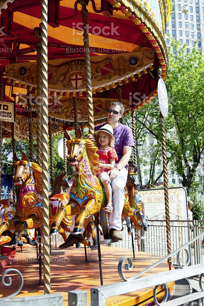 Carousel at Southbank Centre, Festival of Britain 60th anniversa stock photo