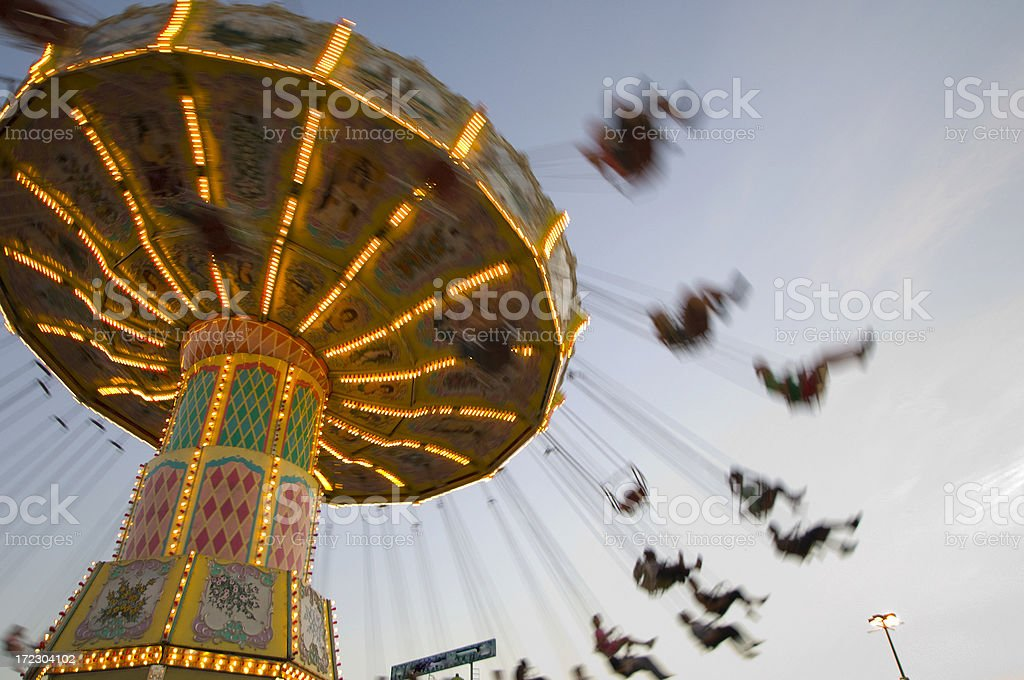 Carousel at the fair royalty-free stock photo