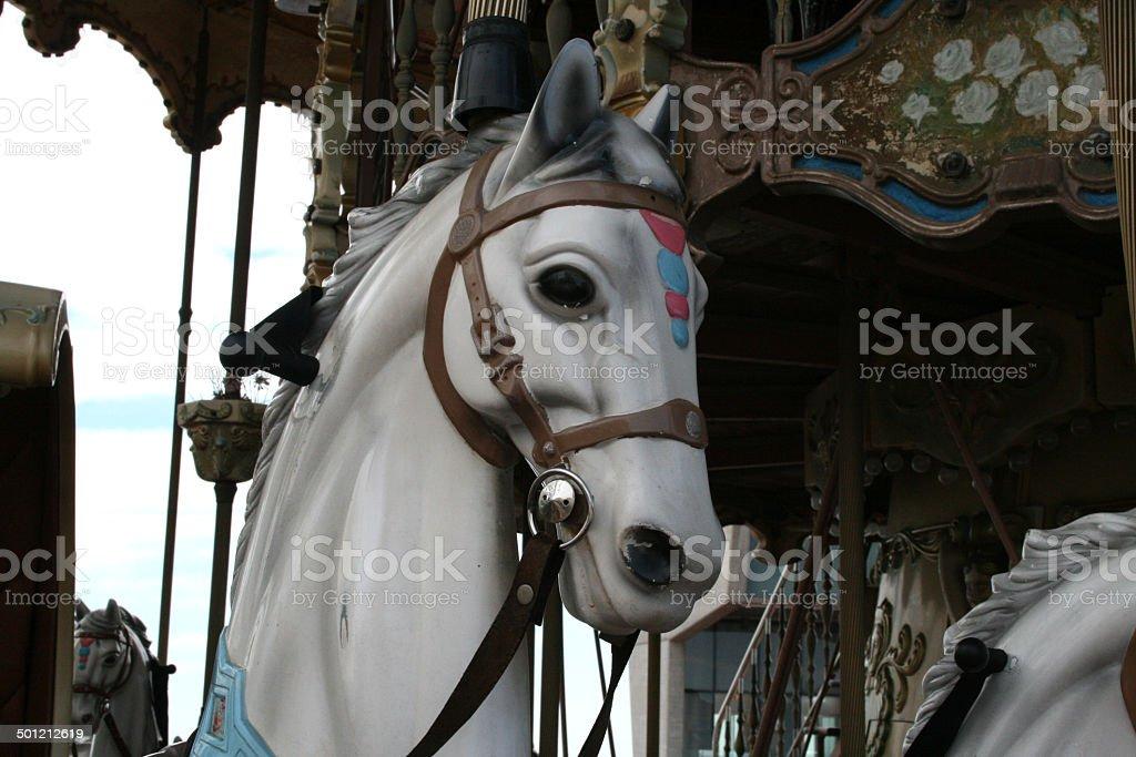 Karussell auf der Kirmes stock photo