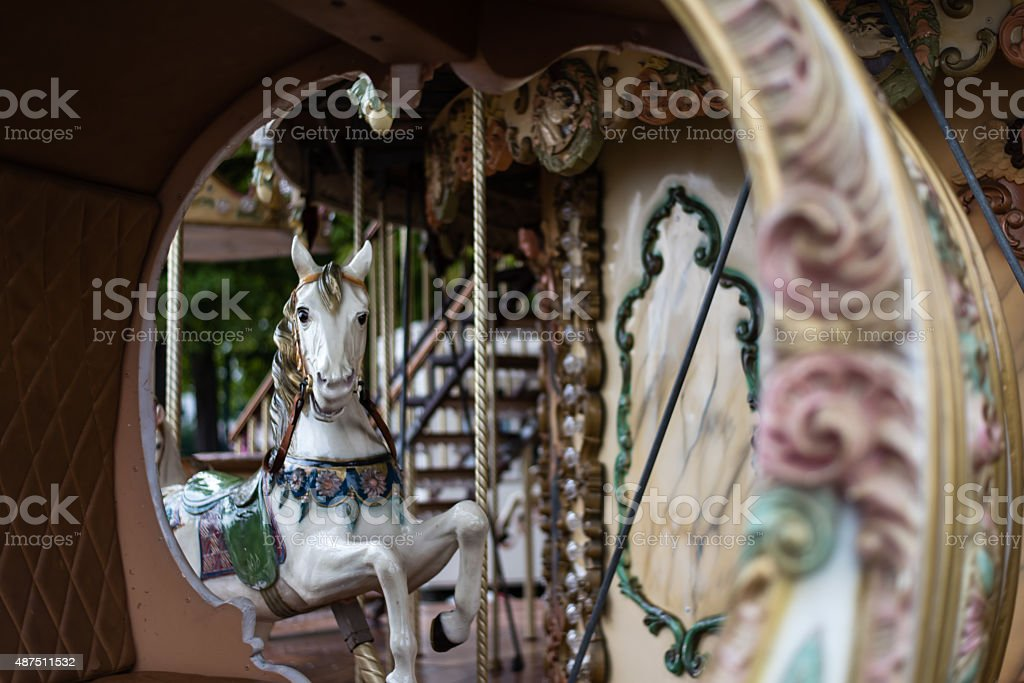 carousel at the park stock photo