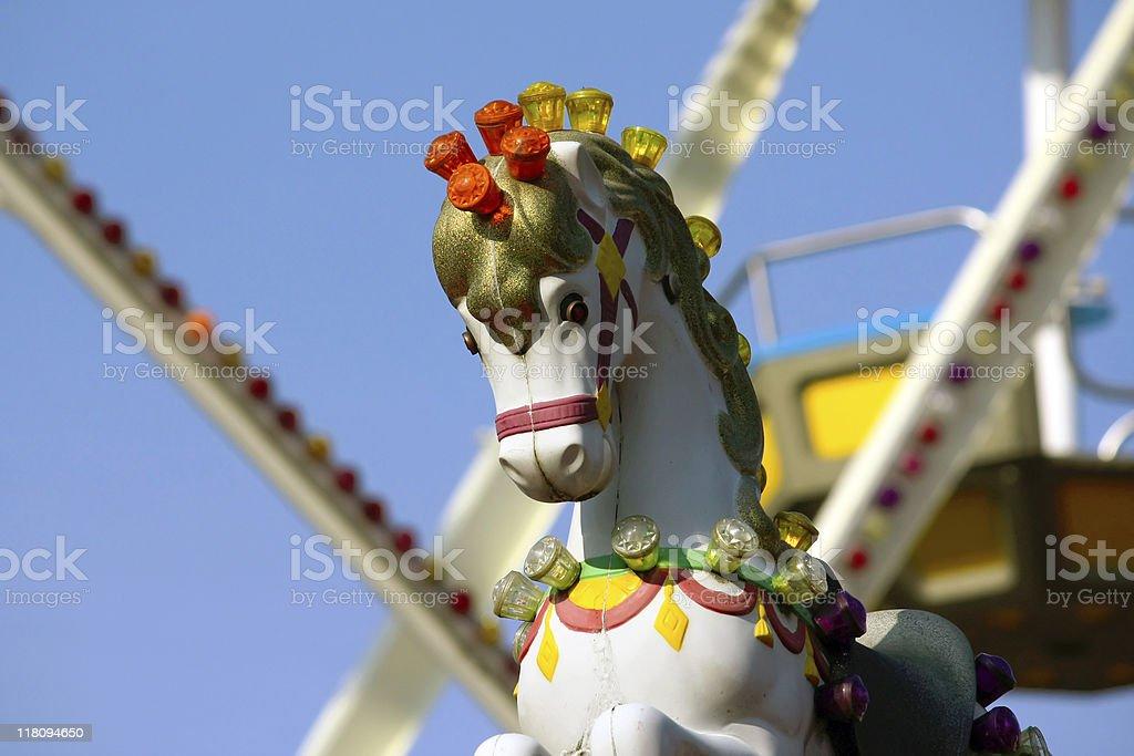 carousel decoration stock photo