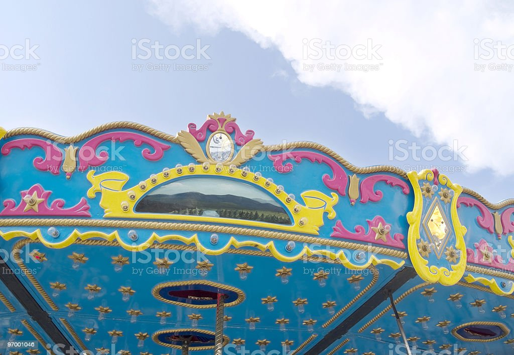 Carousel Detail royalty-free stock photo