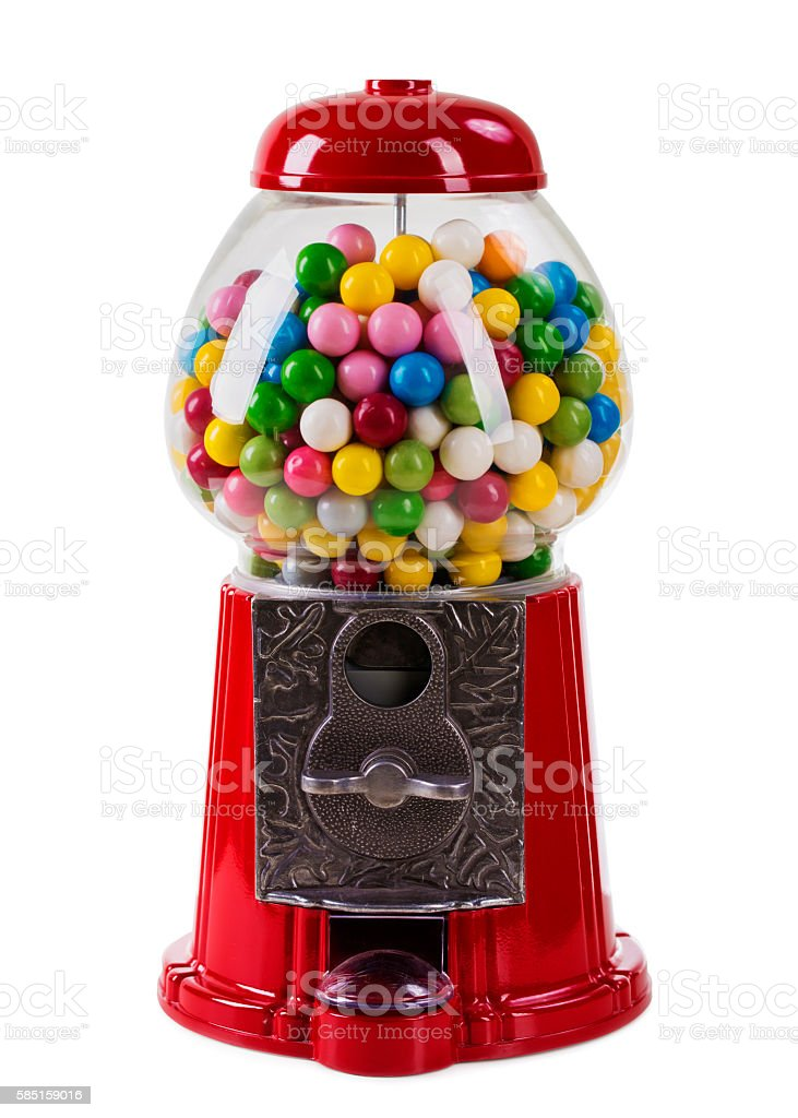 Carousel Gumball Machine Bank stock photo