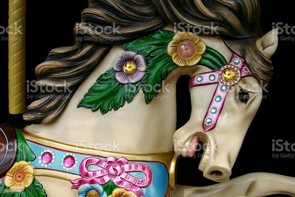 Carousel Horse Close-up stock photo