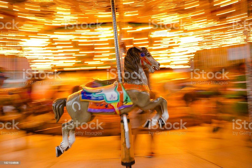 carousel horse panning royalty-free stock photo