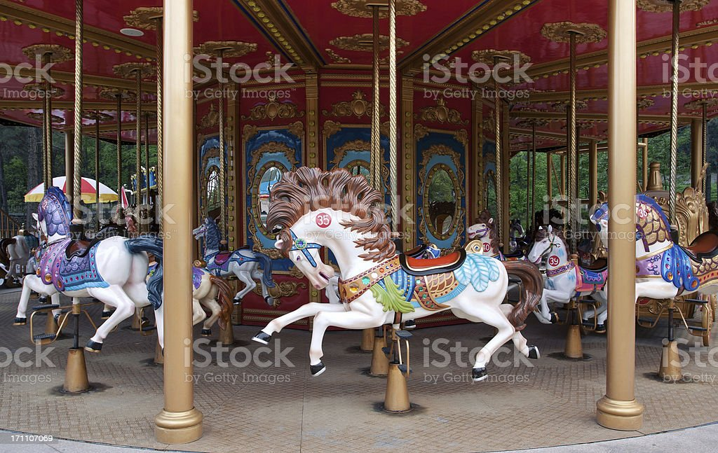 Carousel horse (Merry-Go-Round) stock photo