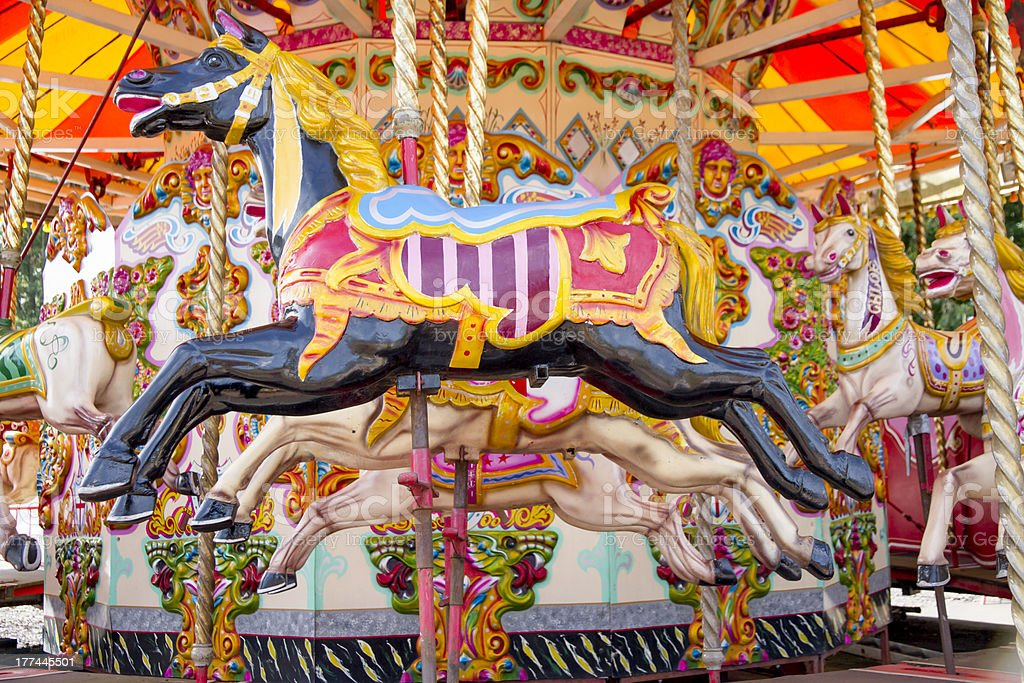 Carousel horse royalty-free stock photo