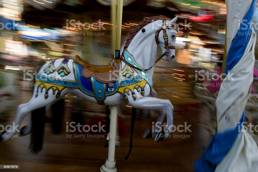 Carousel Horse with movement royalty-free stock photo