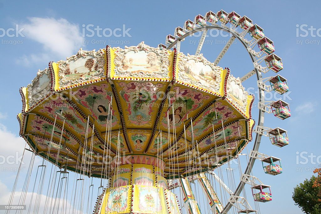 carousel in a amusement park royalty-free stock photo