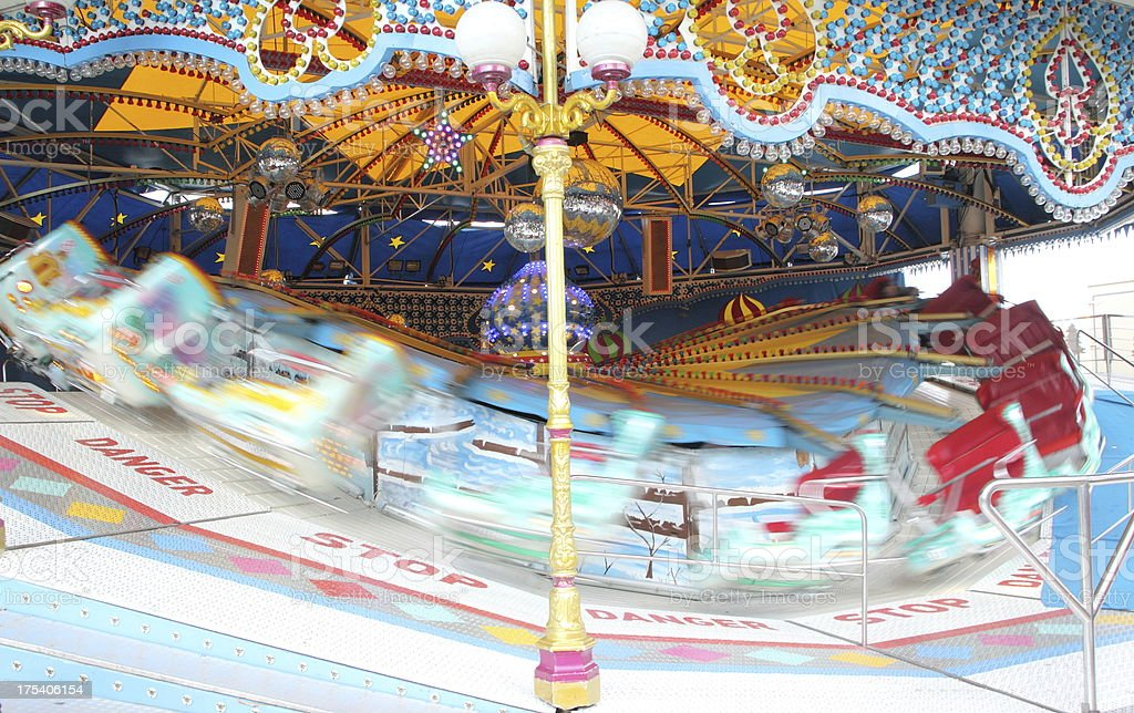 carousel in action royalty-free stock photo