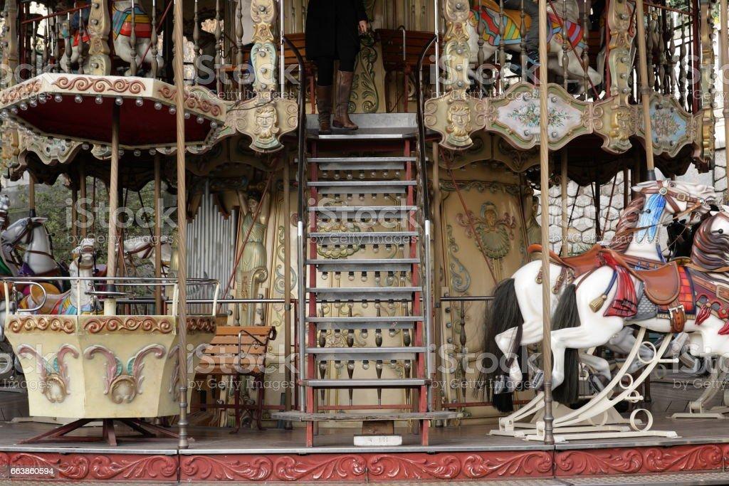 Carousel in France stock photo