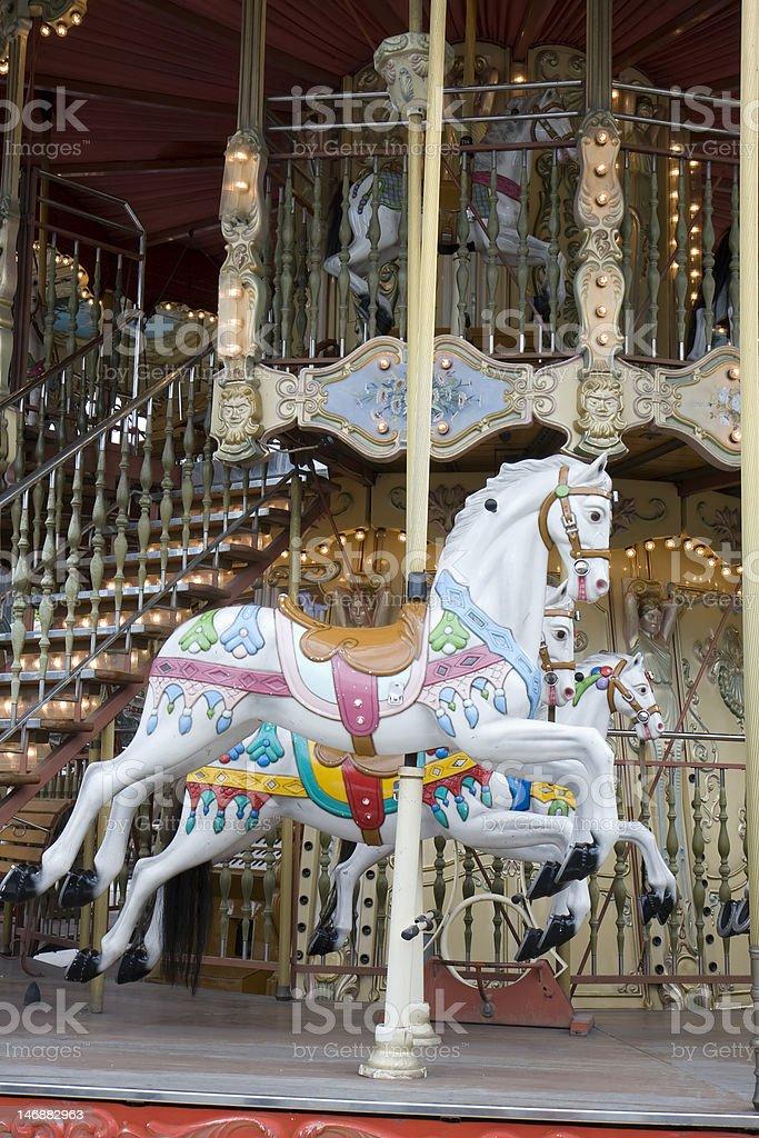 Carousel in Paris stock photo