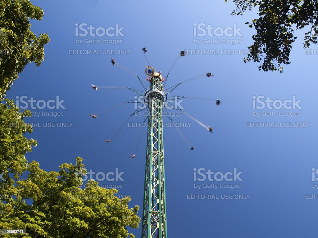 Carousel in Tivoli, Copenhagen stock photo