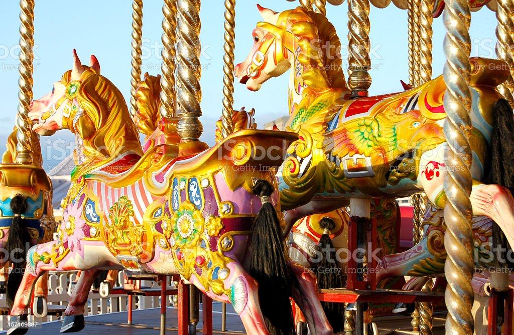 Carousel on the pier stock photo