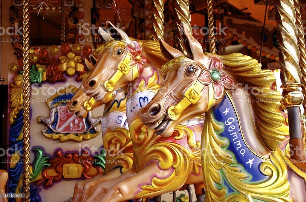 Carousel: Ponies royalty-free stock photo