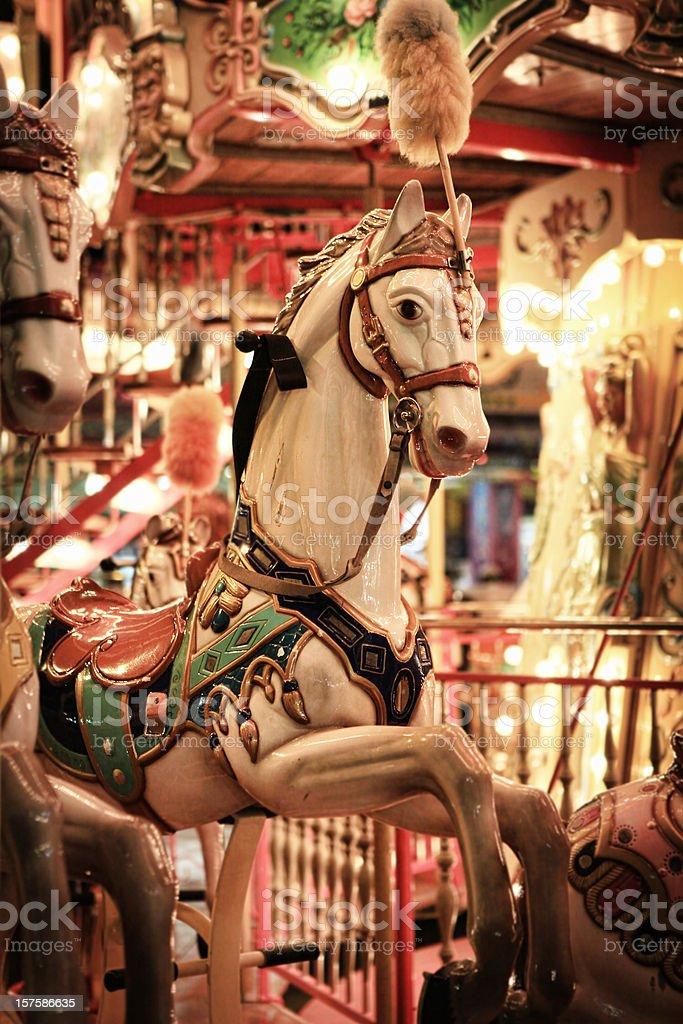 Carousel ride stock photo