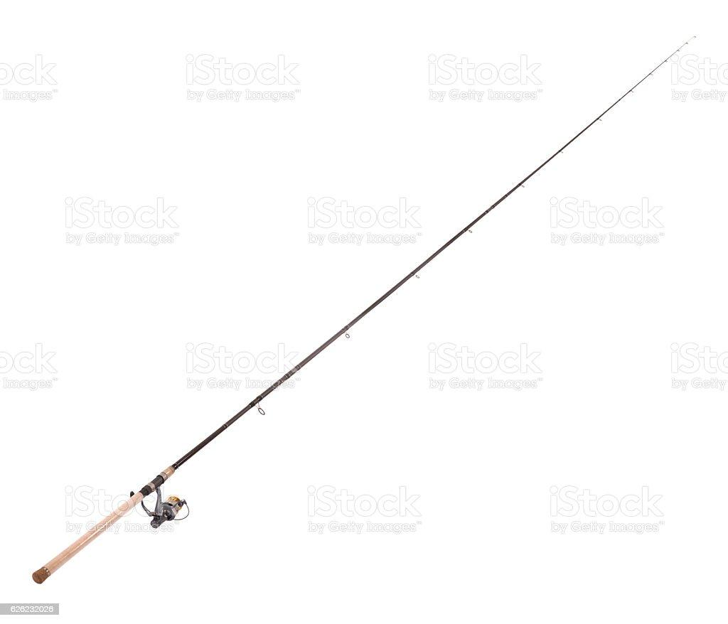 Carp feeder fishing rod stock photo