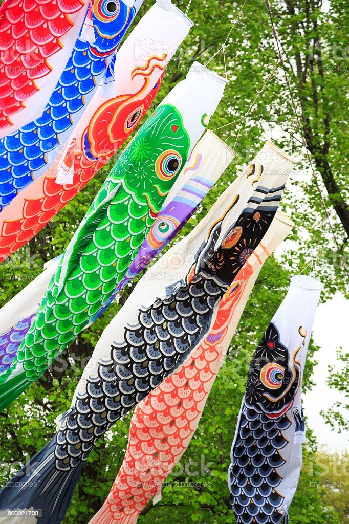 Carp flag in Japan stock photo