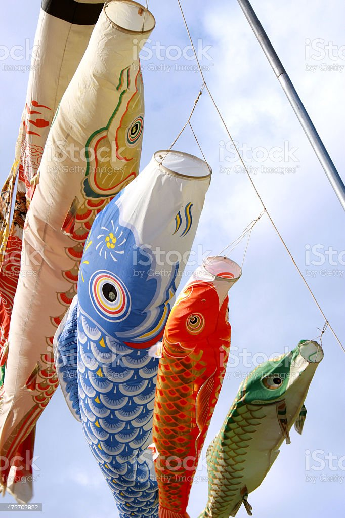 Carp streamer stock photo