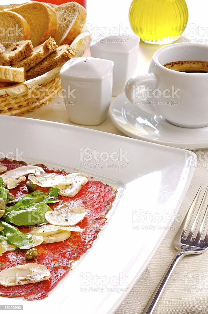 Carpaccio royalty-free stock photo