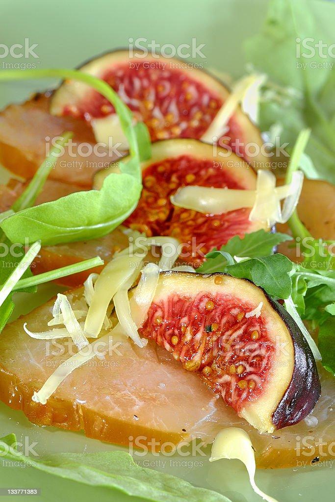 Salada de Bife de carpaccio foto royalty-free