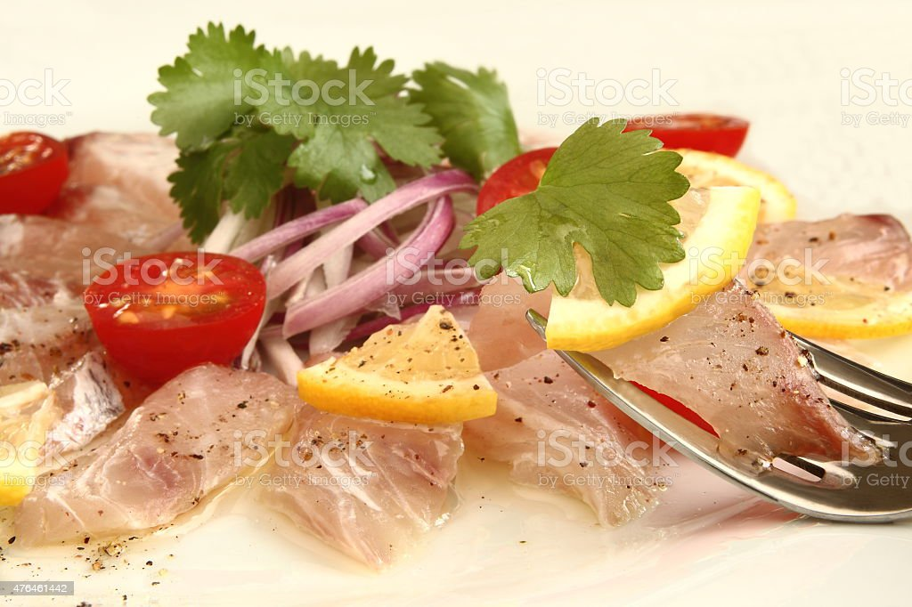 Carpaccio, Sashimi salad stock photo