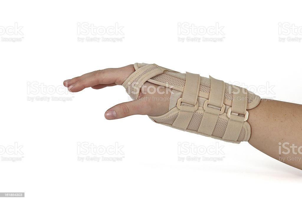 Carpal Tunnel Syndrome Brace. stock photo