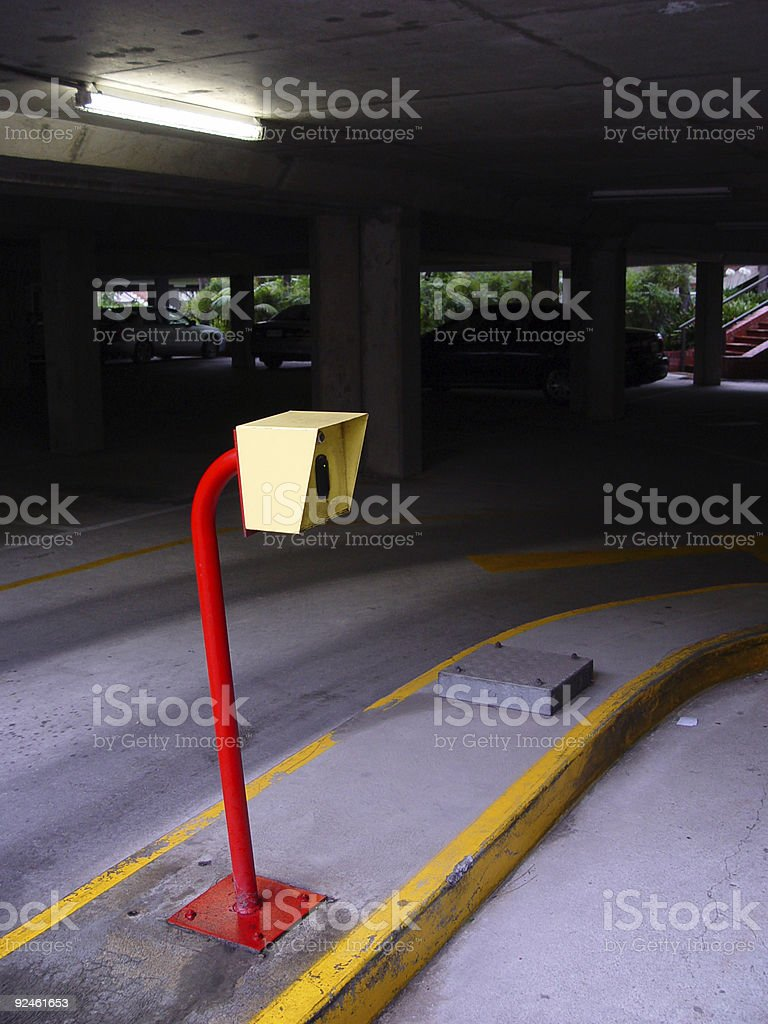 Carpark exit reader royalty-free stock photo