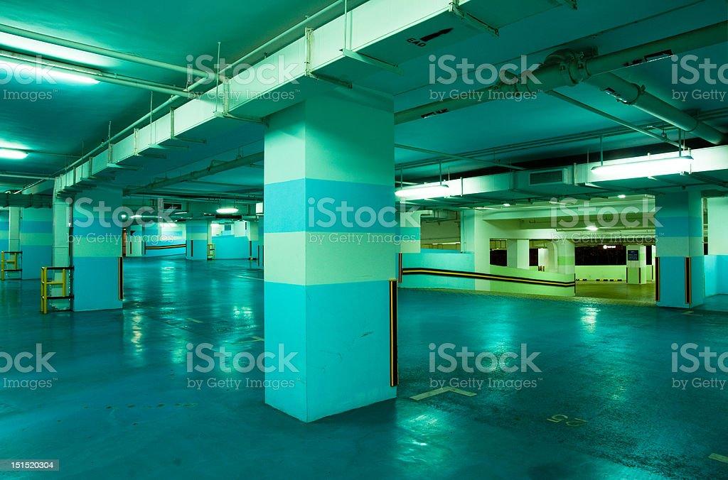 Carpark Interior royalty-free stock photo