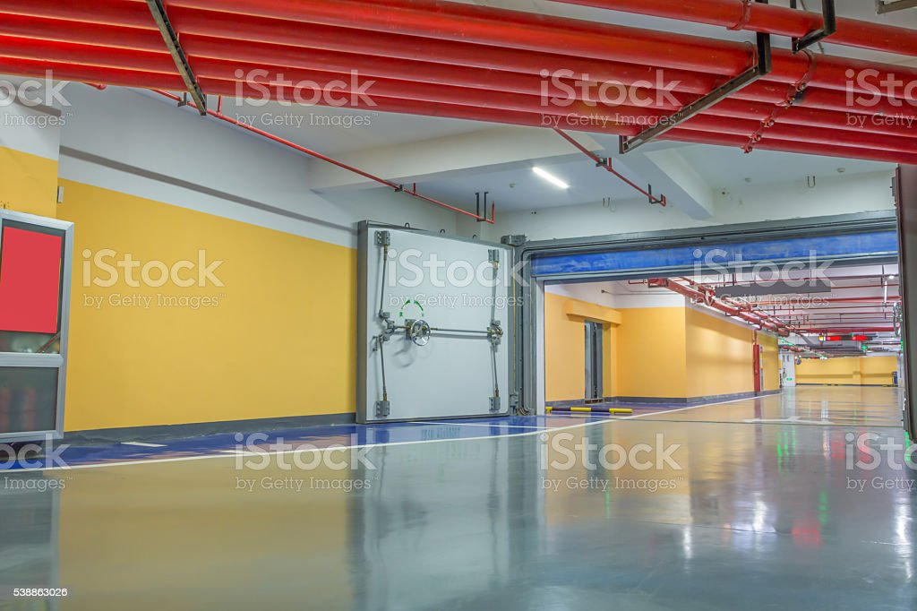 Carpark stock photo