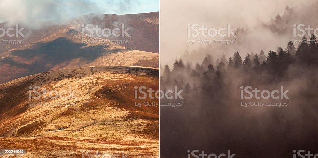 Carpathian mountains, Ukraine stock photo