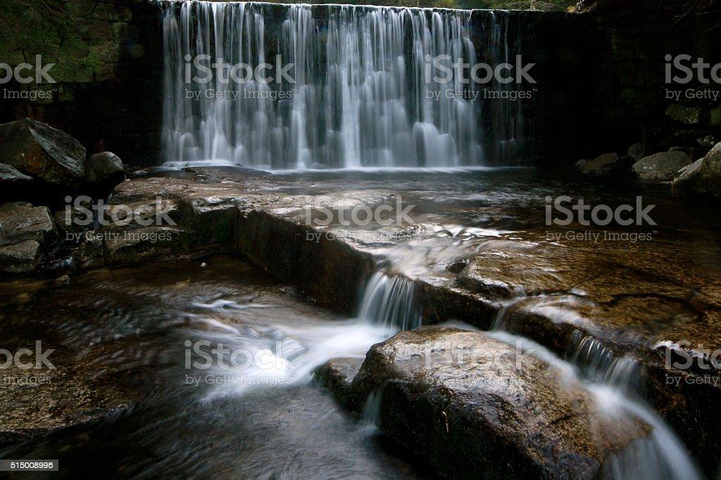 Carpathian waterfall. stock photo