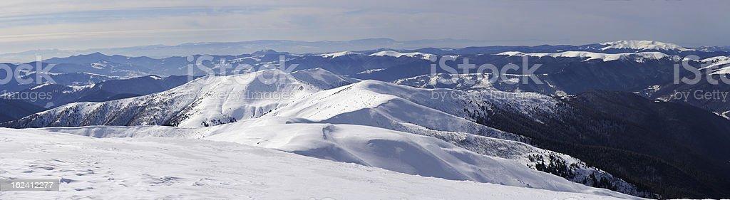 Carpathians in winter royalty-free stock photo