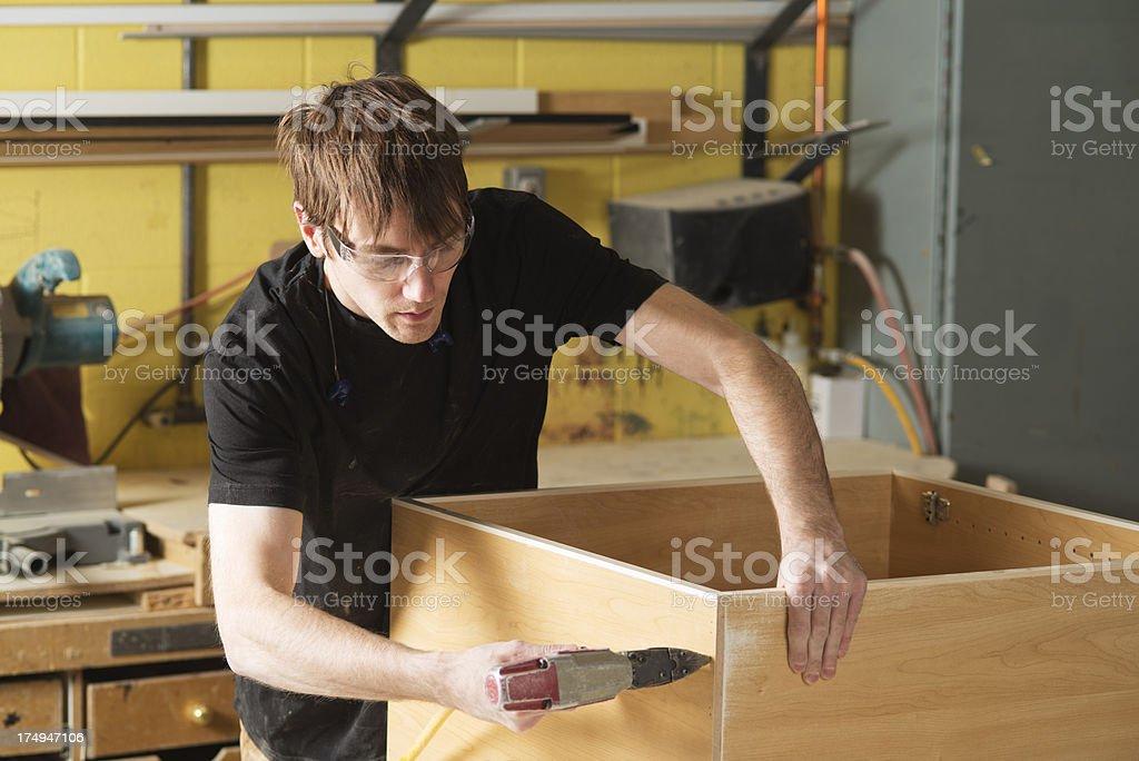 Carpenter Cabinet Maker royalty-free stock photo