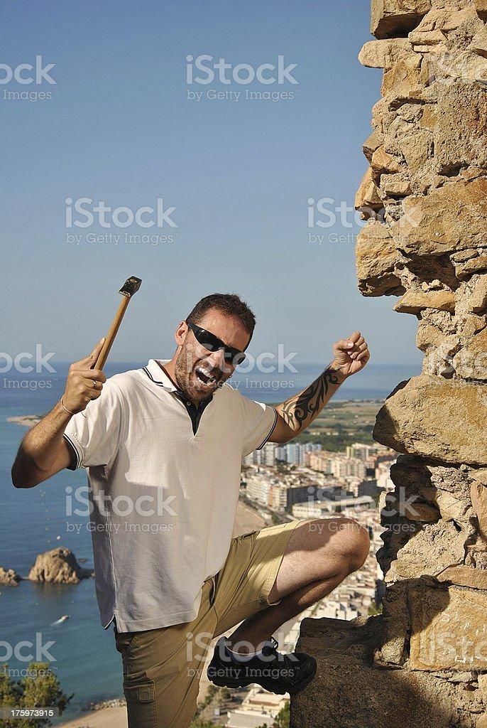 carpenter crazy royalty-free stock photo