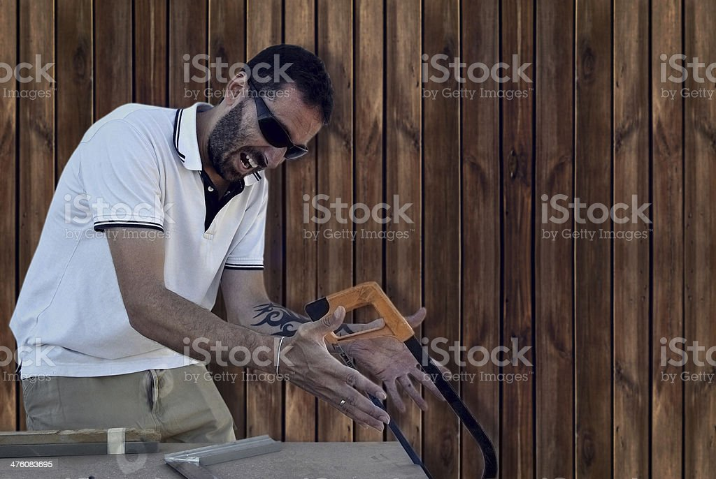 carpenter crazy royalty-free stock photo