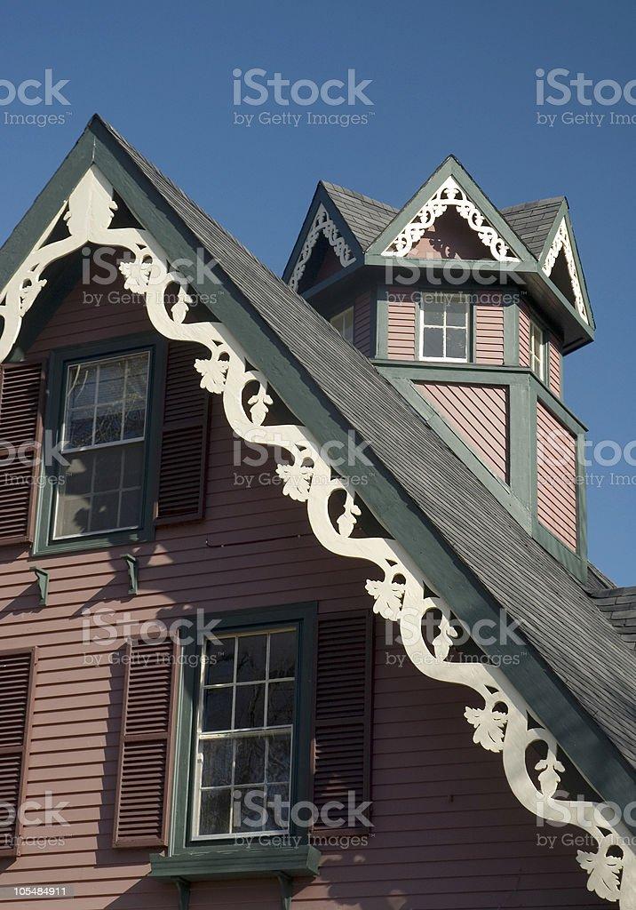 Carpenter Gothic Roofline stock photo