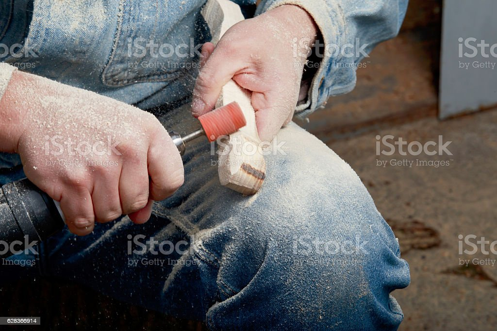carpenter is working stock photo