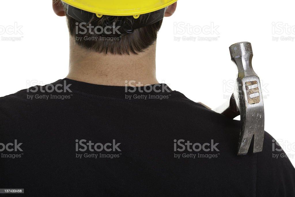 Carpenter Job Hammer royalty-free stock photo