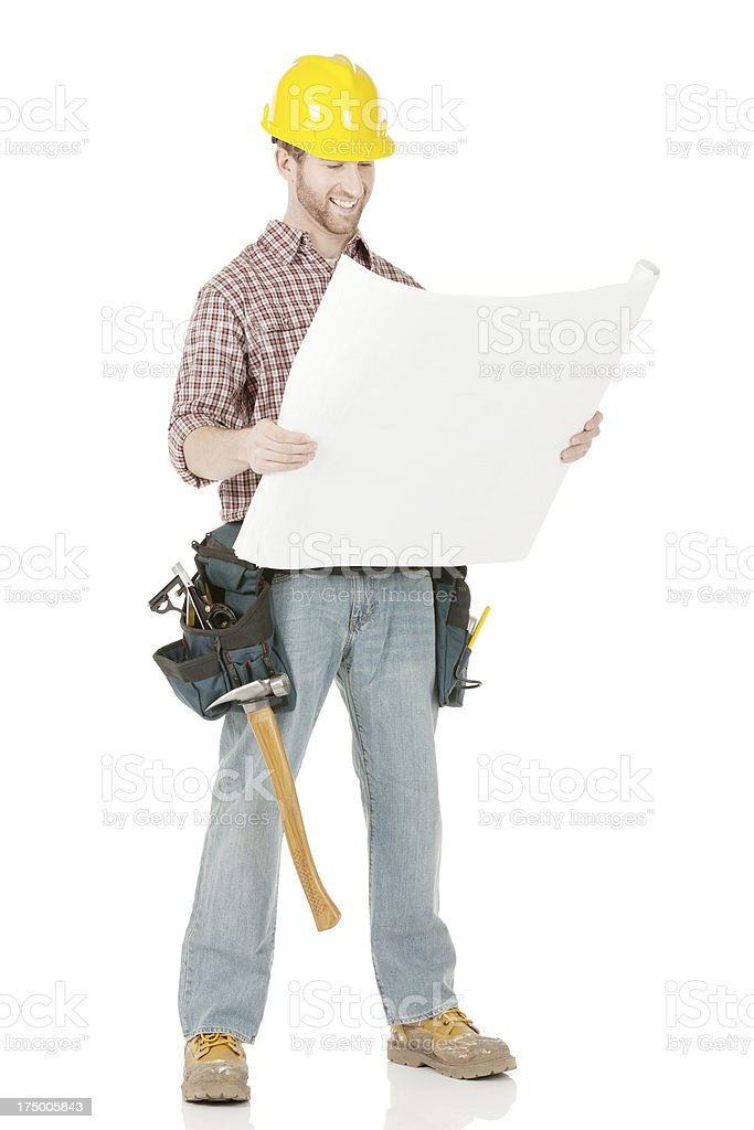Carpenter standing royalty-free stock photo