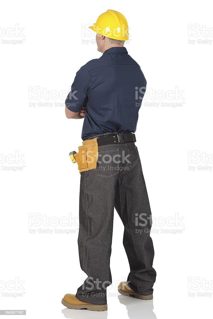 Carpenter standing royalty-free stock photo