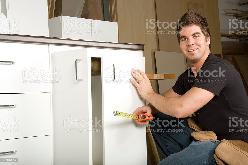 Carpenter Workshop stock photo