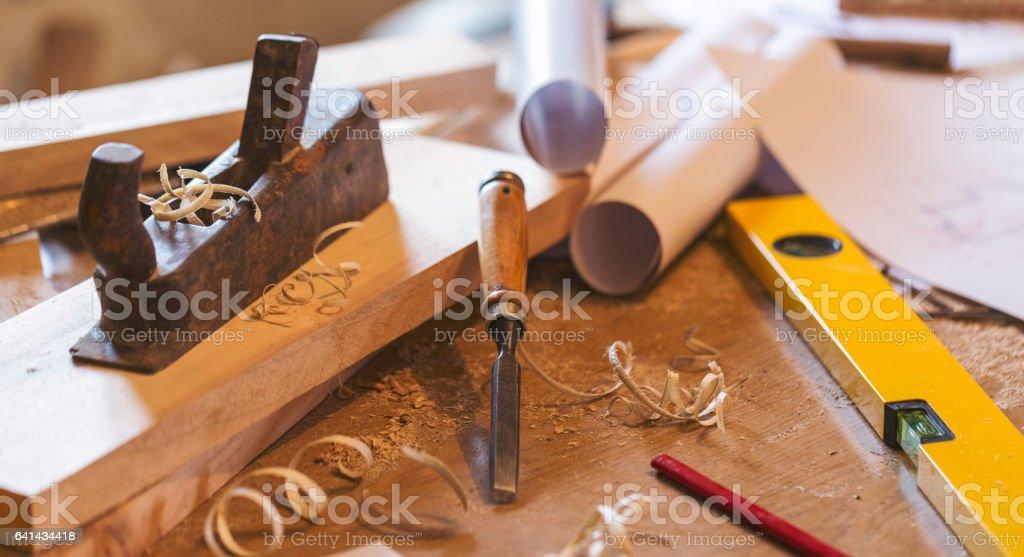 Carpenter Worktools - Stock image stock photo
